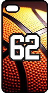 Basketball Sports Fan Player Number 62 Black Rubber Decorative iphone 6 4.7 Case