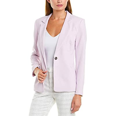 1.STATE Textured Crepe One Button Blazer Purple at Women's Clothing store