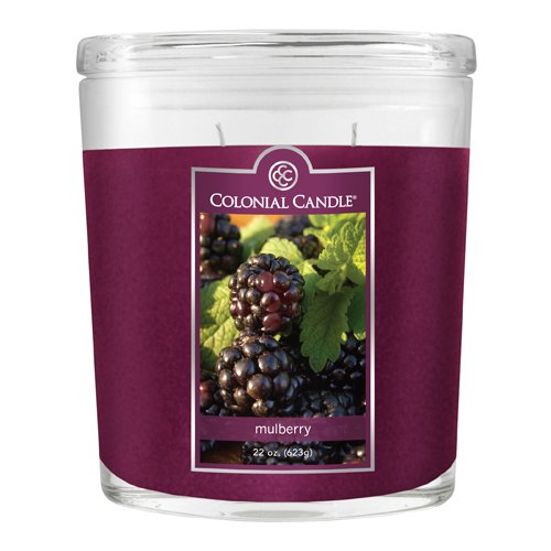 Colonial Candle 22-Ounce Scented Oval Jar Candle, Mulberry ()