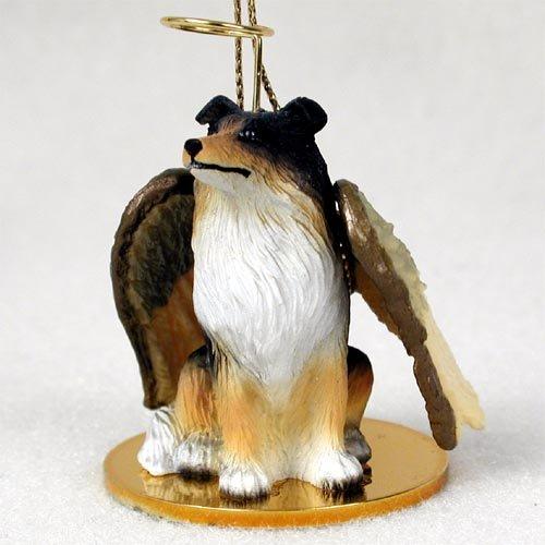 Collie Tricolor Pet Angel Ornament (Angel Dog Ornament Collie)