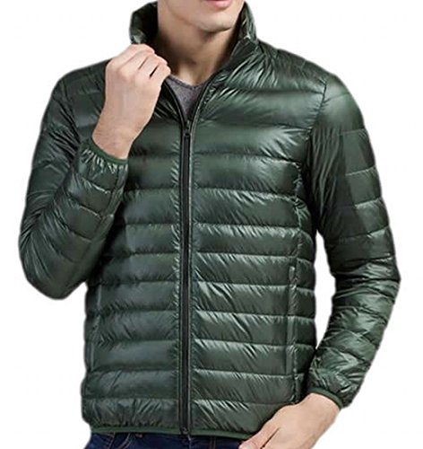 Down M Mens EKU Green Blackish Solid Coats Fashion Lightweight Jacket wBqwX7Zax