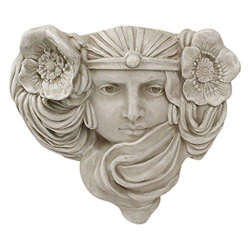 Design Toscano Art Nouveau Mystic Maiden Wall Pocket Planter Sculpture