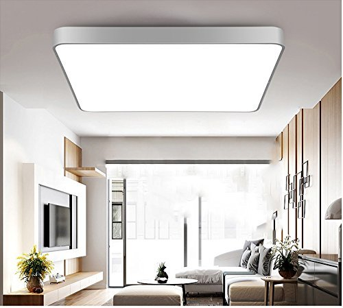 LED Ceiling Light, Natrual day  White, 28W Incandescent Bulbs Equivalent, Square Flush Mount Lighting, Ceiling Dwon lighting for Kitchen Bathroom Dining Room