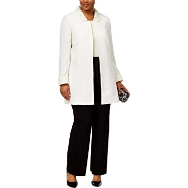 e4ade5defcf Image Unavailable. Image not available for. Color  Tahari ASL Womens Plus  Textured Embellished Topper Jacket ...