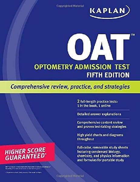 Kaplan Oat Kaplan Test Prep 9781609781095 Medicine Health Science Books Amazon Com
