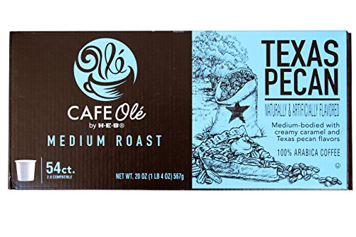 HEB cafe ole Texas pecan single serve coffee 54 -