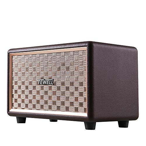 TEWELL Computer Speaker with Bass Enhanced Technology, Bluetooth and 3.5mm AUX for PC, Laptop, Desktop, Tablet, Cellphone and Projector (Bluetooth Speaker Shelf)