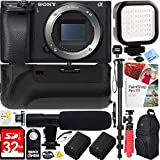 Sony Alpha a6000 24.3MP Interchangeable Lens Camera Body only (ILCE6000/B) – 64GB Battery Grip & Shotgun Mic Pro Video Bundle Review