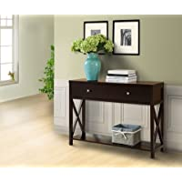 Pilaster Designs - Wood Entryway Console Sofa Occasional Table With Drawers - Cherry Finish