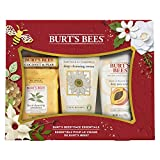Burt's Bees Face Essentials Holiday Gift Set, 4 Skin Care Products – Cleansing Towelettes, Deep Cleansing Cream, Deep Pore Scrub and Lip Balm
