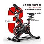 Asy-Allenamento-Spin-Bike-Cyclette-Aerobico-Home-Trainer-Bici-da-Fitness-Bicicletta-da-Ciclismo-Silenziosa-con-Manubrio-Regolabile-E-Monitor-A-7-Funzioni-del-Sedile-Trainer-per-Addominali