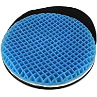 FOMI Premium Firm Swivel Gel Seat Cushion | 360 Degree Rotation | Round Thick Disc Pad for Home or Office Chair…