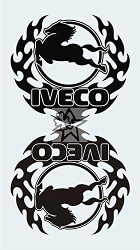 2x IVECO No353 Tribal ca 20 cm Aufkleber LKW Truck Tuning Trucker Sticker Decal von MYROCKSHIRT