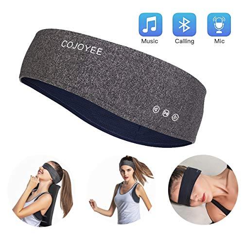 Blutooth Headband Headphones Sleepphones Wireless Sports Yoga Sweatband (Grey)
