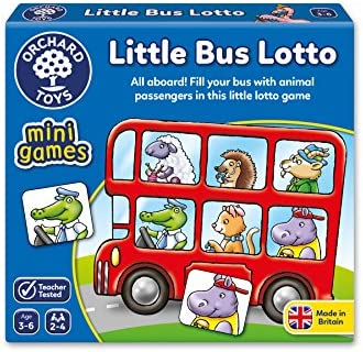 Orchard Toys 355 Little Bus Lotto Matching Memory Mini Game Toddler Children 3+