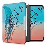kwmobile Elegant synthetic leather case for the Kobo Glo HD (N437) / Touch 2.0 Design Learn to fly in blue black red
