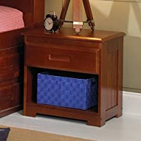 1 Drawer Nightstand in Merlot