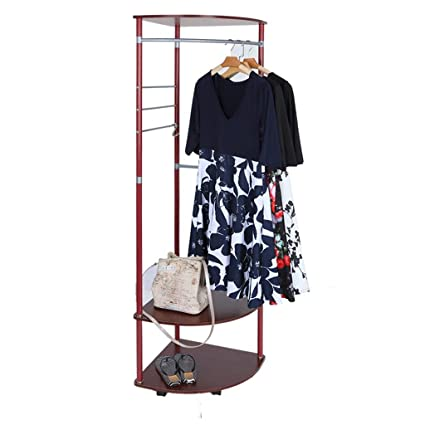 4f6a21067b33 Amazon.com: Hellofishly Multifunctional Coat Rack Floor Indoor Clothes Rack Fashion  Creative Hanger,Metal Coat Rack and Shoe Bench Storage Stand with ...