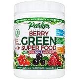 Berry Green Superfood Powder with Organic Greens & Organic Fruits, Enzymes, Probiotics, Antioxidants, Vitamins, Minerals - Al