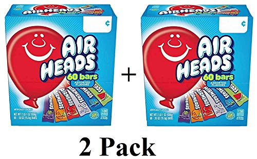 s Bars Chewy Fruit Candy, Variety Pack, Party, Non Melting, 60 Count Packaging May Vary - 2 Pack -