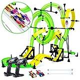 Peradix Car Race Track, 151PCs 960CM Rail Car Track Set Double RC Racing Kids Toys, DIY Assembly Toys for Children Age 6+