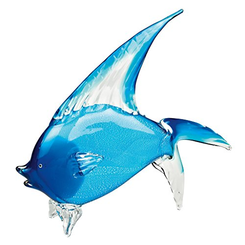 Badash J568 Light Blue Art Glass Tropical Fish Home Decor