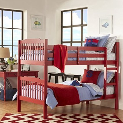 Amazon Com Wooden Bunk Bed Multiple Finishes Home Furniture