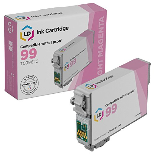 Original Light Magenta Cartridge (LD Remanufactured Epson 99 / T0996 / T099620 High Yield Light Magenta Ink Cartridge for use in Artisan 700, 710, 725, 730, 800, 810, 835 & 837)