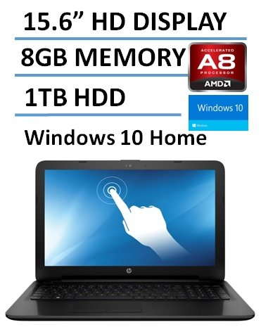 2016 New HP 15.6 Inch TouchScreen Laptop Computer, AMD Quad Core A8-7410 CPU up to 2.5GHz, 8GB DDR3 RAM, 1TB HDD, Bluetooth, RJ45, USB 3.0, HDMI, Windows 10 Home, Black (Certified Refurbished) (Amazon Laptop Touch Screen compare prices)