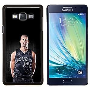 Miami 31 Baloncesto- Metal de aluminio y de plástico duro Caja del teléfono - Negro - Samsung Galaxy A7 / SM-A700