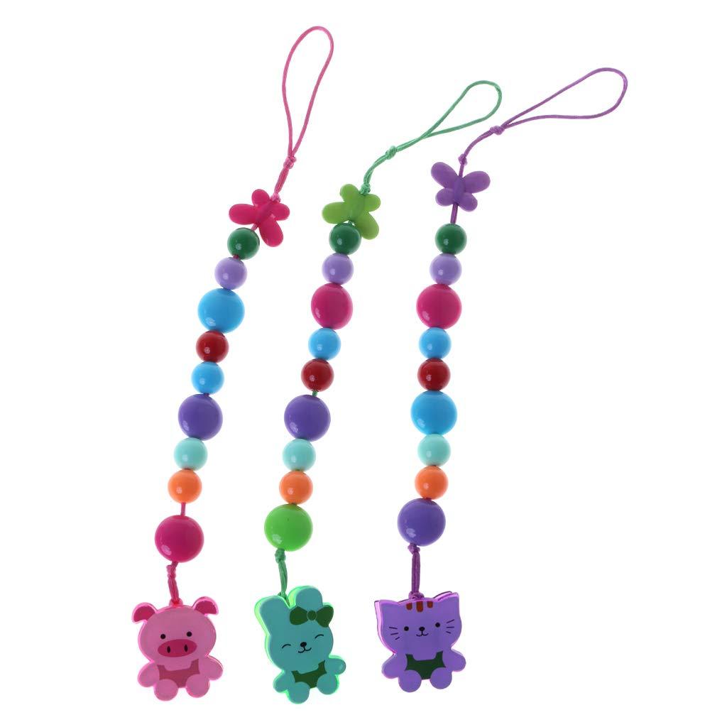 Color aleatorio MIsha Cadena chupetes de colores Juguete para bebe Cadena chupete de pl/ástico PP