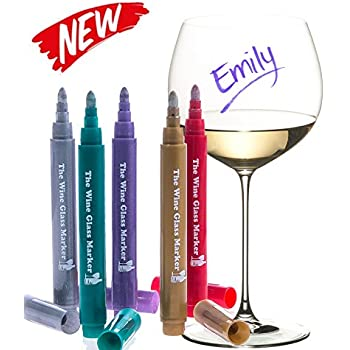 the original wine glass markers set of 5 wine markers u2013 lifetime replacement