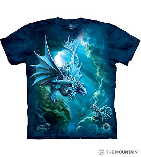 The Mountain Sea Dragon Adult T-Shirt, Blue, XL