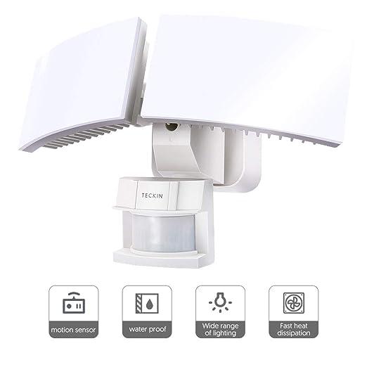 Amazon.com: Sensor de movimiento de luz, luz de seguridad al ...
