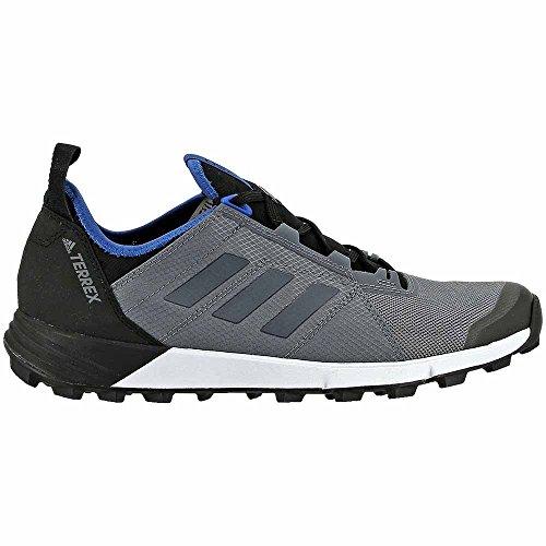Adidas Mænds Terrex Agravic Hastighed Trail Løbesko Vista Grå, Kerne Blå