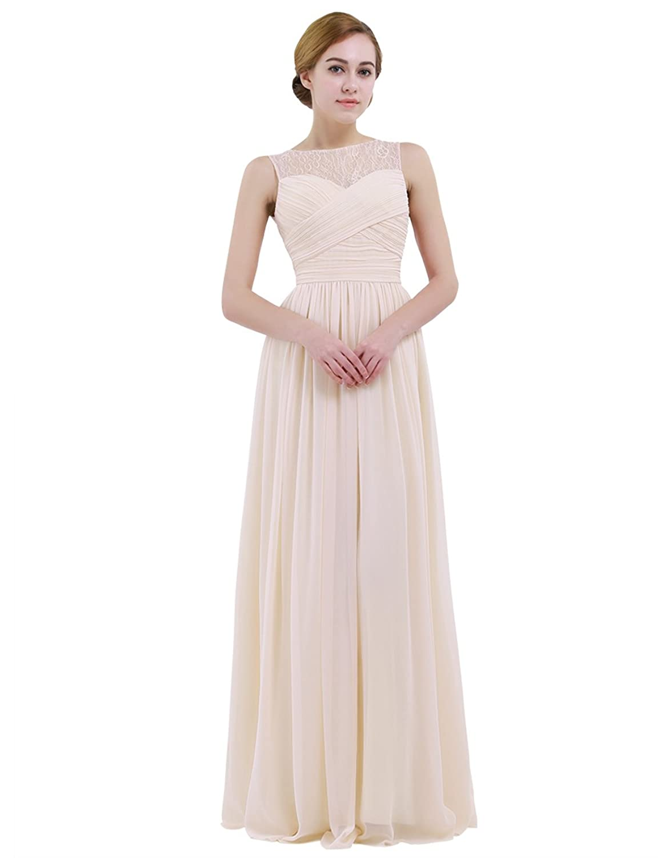 iEFiEL Damen Kleid festliche Kleider elegant Abendkleid Hochzeit ...