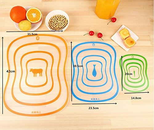 Show 1 Pc Home Kitchen Transparent Plastic Resin Fruit Mats Cutting Board 30.5*23.5cm price