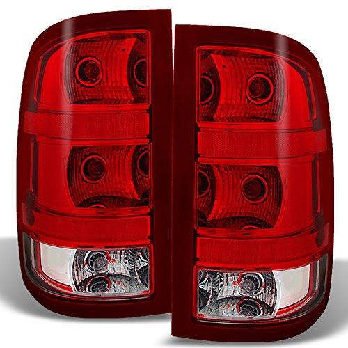 For GMC Sierra Fleet side Pickup Tail Lights Brake Lamps Driver Left + Passenger Right Side Replacement