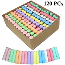 Joyin Toy 120 Pack Giant Box Non-toxic Jumbo Washable Sidewalk Chalk Set in 10 Colors (120 Pieces)