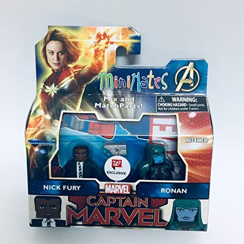 DIAMOND SELECT TOYS Minimates Captain Marvel - Nick Fury & Ronan Exclusive Minifigues