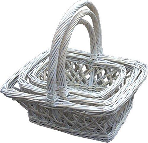 Set of 3 Provence Lattice Shopping Baskets