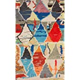 nuLOOM 200MJSM21A-508 Hand-Tufted Moroccan Berber Wool/Faux Silk Multi Rug (5-Feet X 8-Feet)