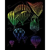 Royal Brush Rainbow Foil Engraving Art Kit, 8 by 10-Inch, Hot Air Balloons