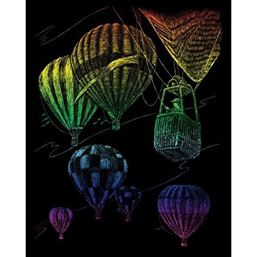 Engraving Royal Art (ROYAL BRUSH Rainbow Foil Engraving Art Kit, 8 by 10-Inch, Hot Air Balloons)