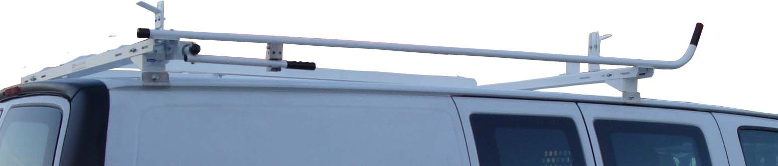 Aluminum Van Ladder Rack - Ford Econoline - Single Lock Down by True Racks (Image #4)