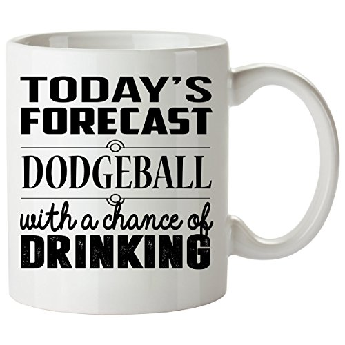 DODGEBALL Mug 11 Oz - DODGEBALL Gifts - Unique Coffee Mug, Coffee Cup - Globo Gym Dodgeball Costumes