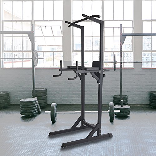 Livebest Heavy Duty Fitness Power Tower Multi-Function Strength Training Workout Dip Station Work Out Equipment for Home Gym by Livebest (Image #3)