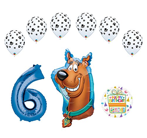 (Mayflower Products Scooby Doo 6th Birthday Party Supplies Balloon Bouquet Decorations)