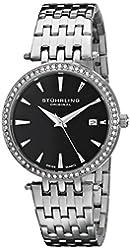 Stuhrling Original Women's 579.02 Soiree Analog Swiss Quartz Silver Stainless Steel Watch