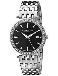 Stuhrling Original Women's 579.02 Vogue Soiree Tiara Swiss Quartz Swarovski Crystal Date Stainless Steel Bracelet Watch